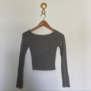 Brandy Melville Crop Ribbed Long Sleeve NWT